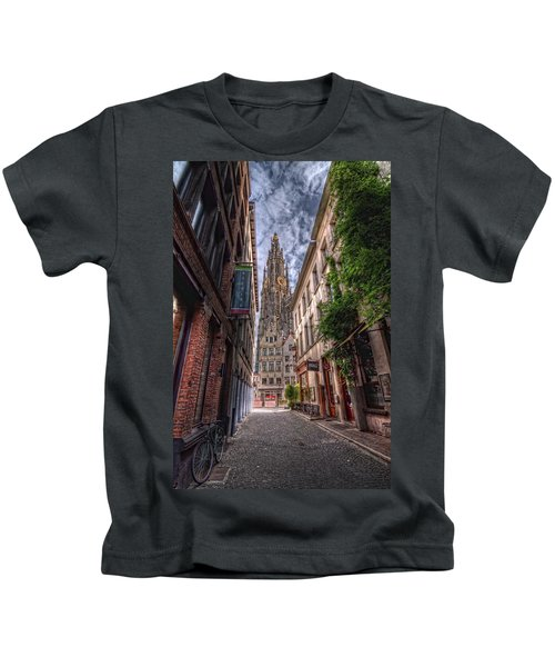 Antwerp Cathedral Kids T-Shirt