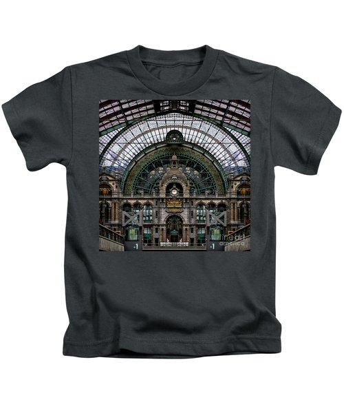 Antwerp Train Terminal Kids T-Shirt