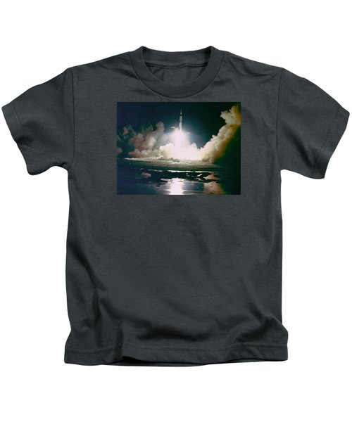 Apollo 17 Night Launch Kids T-Shirt