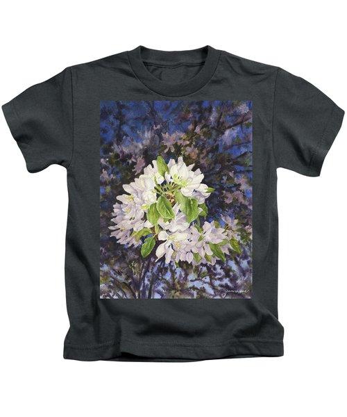 Apple Blossoms At Dusk Kids T-Shirt