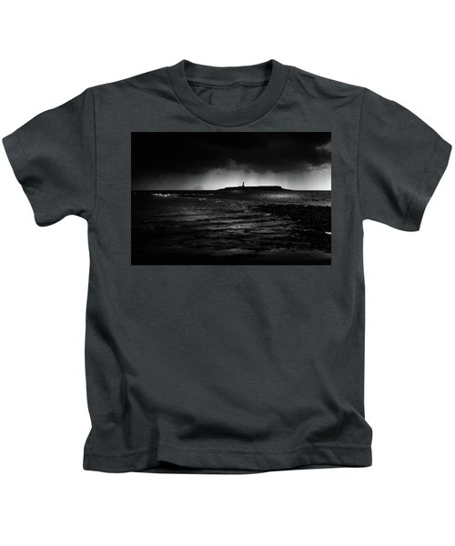 Approaching Storm, Ailsa Craig And Pladda Island Kids T-Shirt