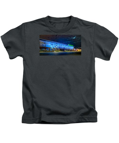 April 2015 -  Birmingham Alabama Baseball Regions Field At Night Kids T-Shirt