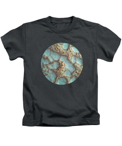 Aqua Coral Reef Abstract Kids T-Shirt