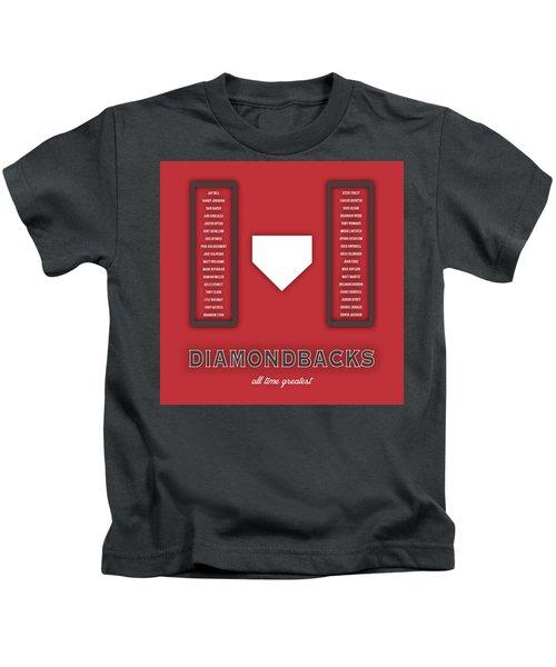 Arizona Diamondbacks Art - Mlb Baseball Wall Print Kids T-Shirt