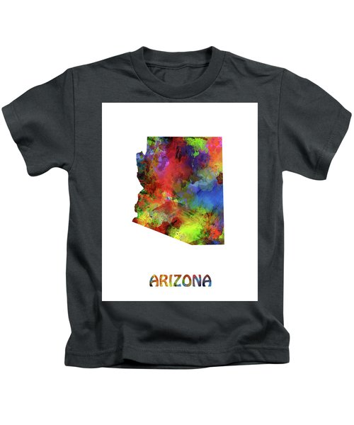 Arizona Map Watercolor Kids T-Shirt