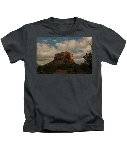 Arizona Red Rocks Sedona 0222 Kids T-Shirt by David Haskett