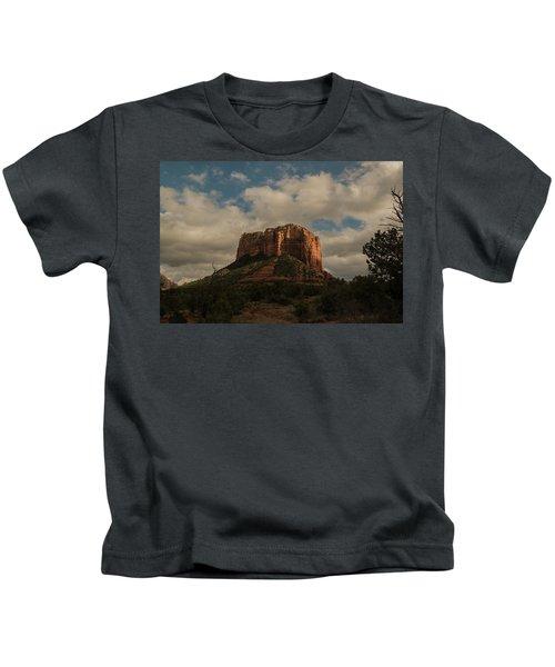 Arizona Red Rocks Sedona 0222 Kids T-Shirt by David Haskett