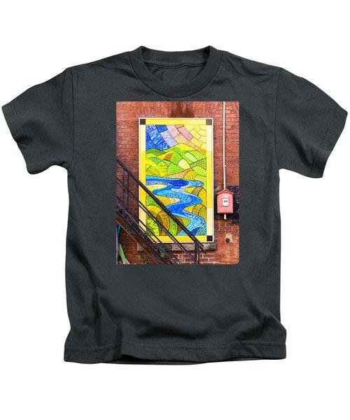 Art And The Fire Escape Kids T-Shirt