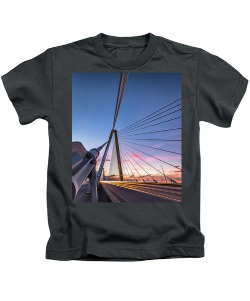 Arthur Ravenel Jr. Bridge Light Trails Kids T-Shirt