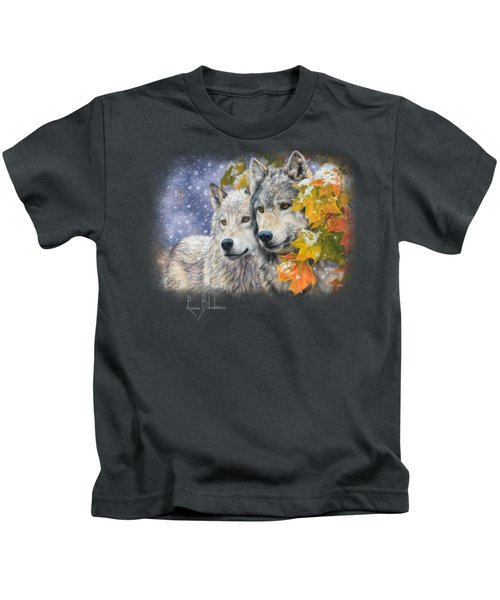 Early Snowfall Kids T-Shirt by Lucie Bilodeau