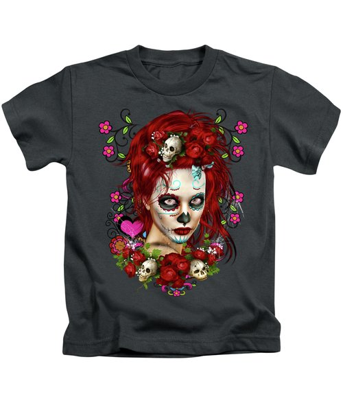 Sugar Doll Red Kids T-Shirt