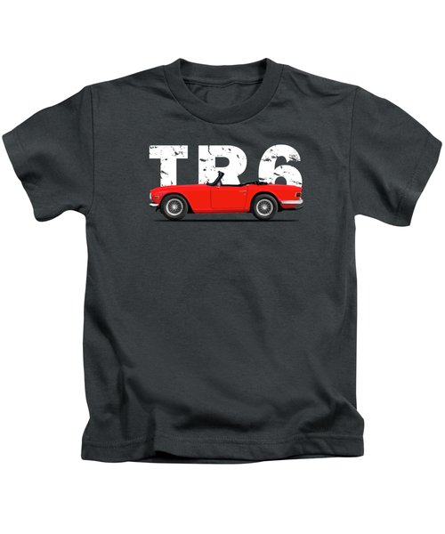 Triumph Tr6 In Red Kids T-Shirt