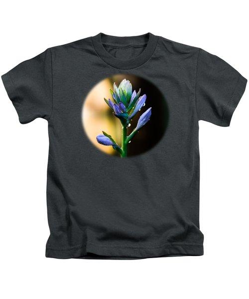 Purple Blooms Kids T-Shirt