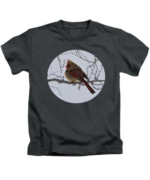 Female Northern Cardinal  Kids T-Shirt