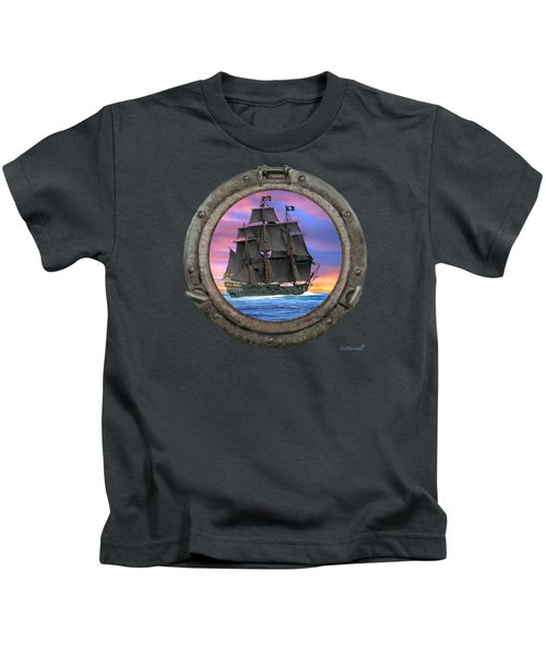 Black Sails Of The 7 Seas Kids T-Shirt