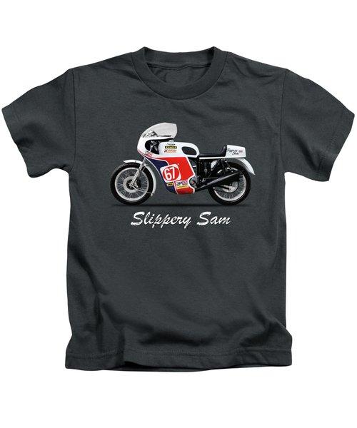 Slippery Sam Production Racer Kids T-Shirt