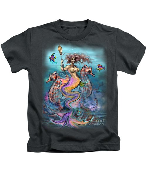Mermaid Kids T-Shirt by Kevin Middleton