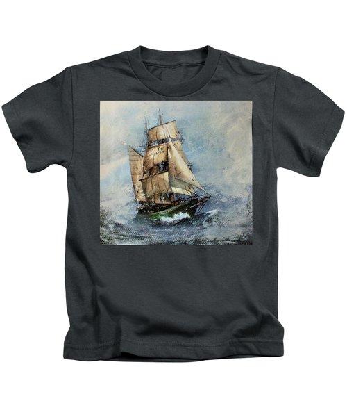 F 827 Asgard Storm Off Galway. Kids T-Shirt