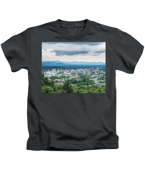 Asheville Afternoon Cropped Kids T-Shirt
