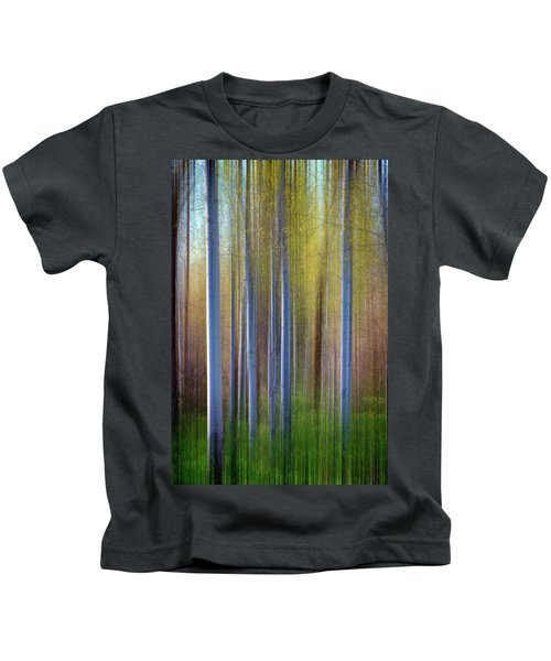 Aspens In Springtime Kids T-Shirt