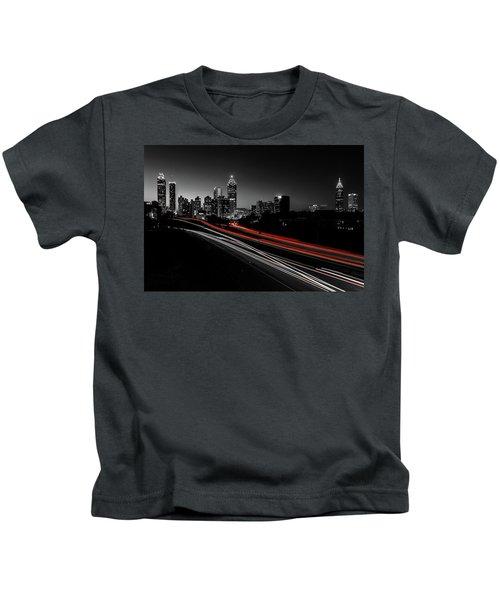 Atlanta Black And White Kids T-Shirt