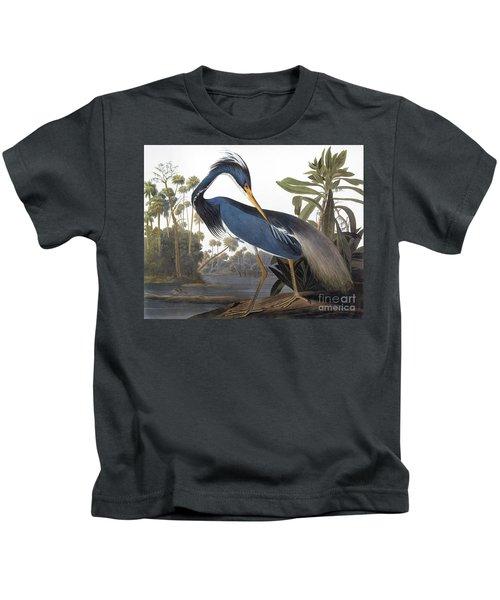 Audubon Heron, 1827 Kids T-Shirt