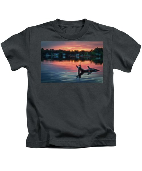 August Sunset Glow Kids T-Shirt