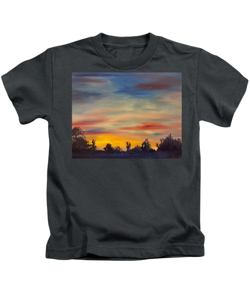 August Sunset In Sw Montana Kids T-Shirt