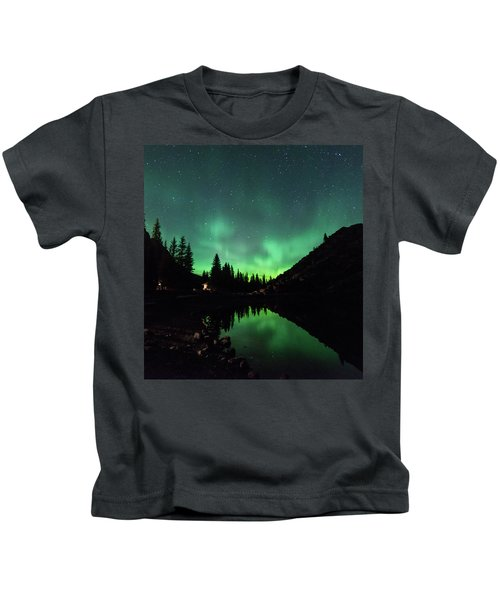 Aurora On Moraine Lake Kids T-Shirt