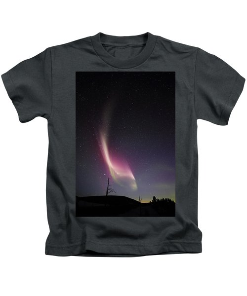 Auroral Phenomonen Knows As Steve, 4 Kids T-Shirt