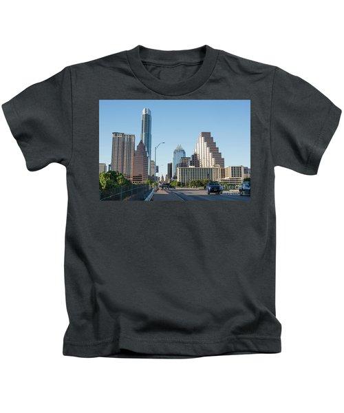 Austin Texas City Skyline During Day Kids T-Shirt