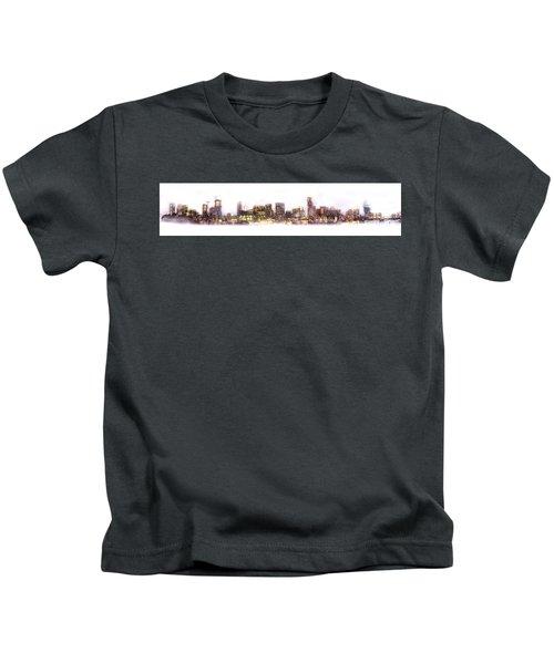 Austin Texas Skyline With White Blackground  Kids T-Shirt