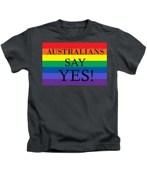 Australians Say Yes Kids T-Shirt