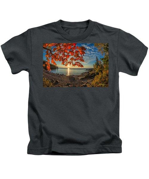 Autumn Bay Near Shovel Point Kids T-Shirt