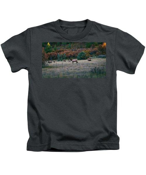 Autumn Bull Elk Kids T-Shirt