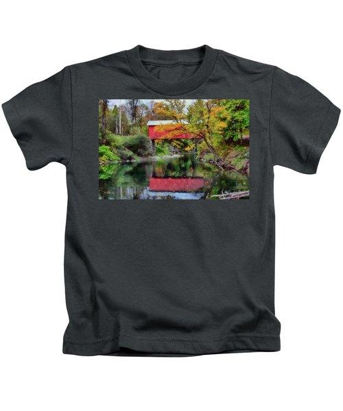 Autumn Colors Over Slaughterhouse. Kids T-Shirt