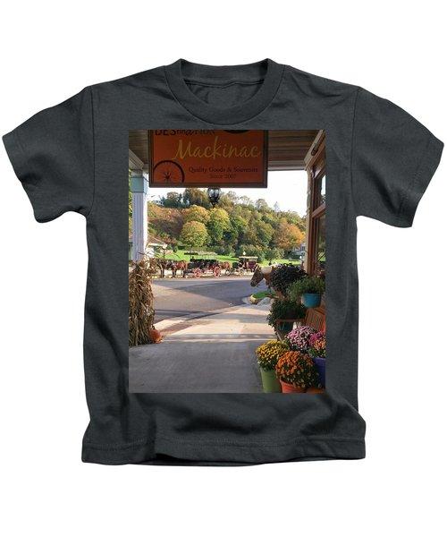 Autumn Morning On Mackinac Island Kids T-Shirt