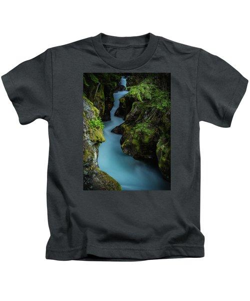Avalanche Creek- Glacier National Park Kids T-Shirt