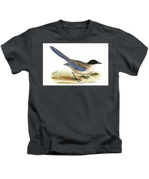 Azure Winged Magpie Kids T-Shirt