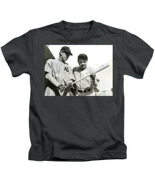 Babe Ruth And Lou Gehrig Kids T-Shirt