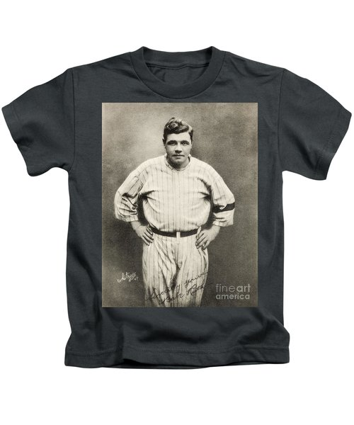 Babe Ruth Portrait Kids T-Shirt