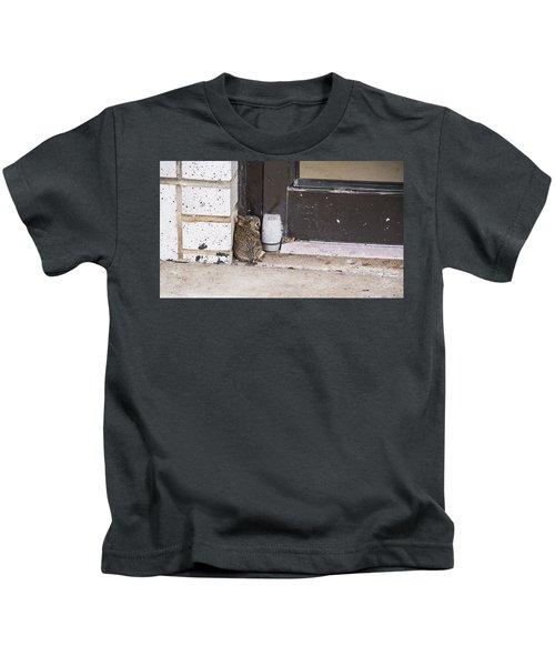 Baby Bunny Hiding Place Kids T-Shirt