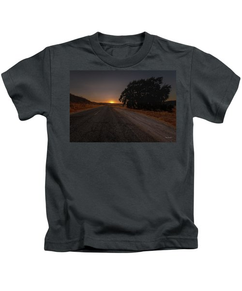 Back Road From Bradley Kids T-Shirt