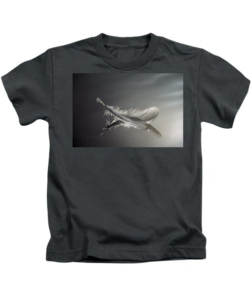 Backlit Feather Kids T-Shirt
