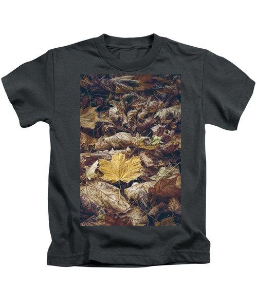 Backyard Leaves Kids T-Shirt