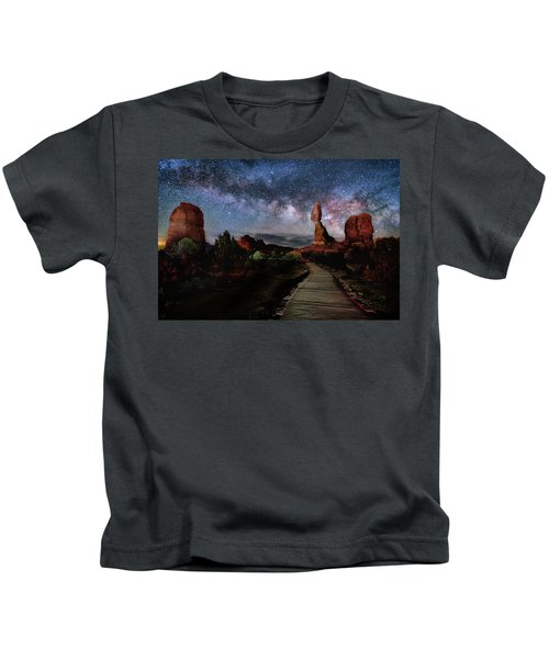 Balanced Rock Milky Way Kids T-Shirt