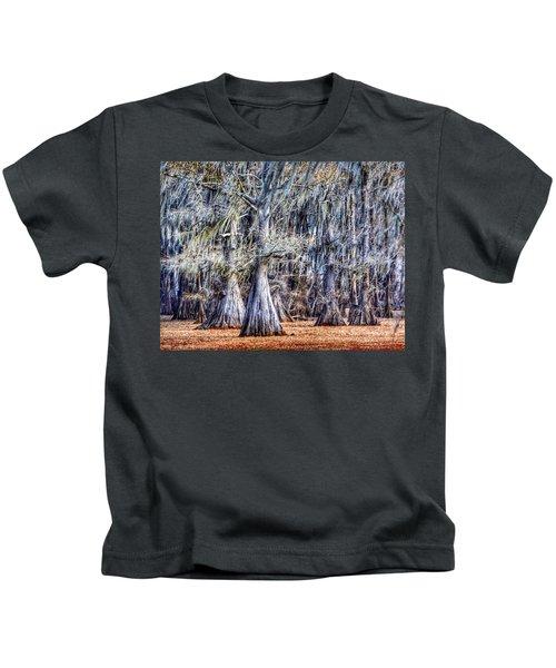 Bald Cypress In Caddo Lake Kids T-Shirt