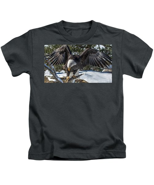 Bald Eagle Spread Kids T-Shirt