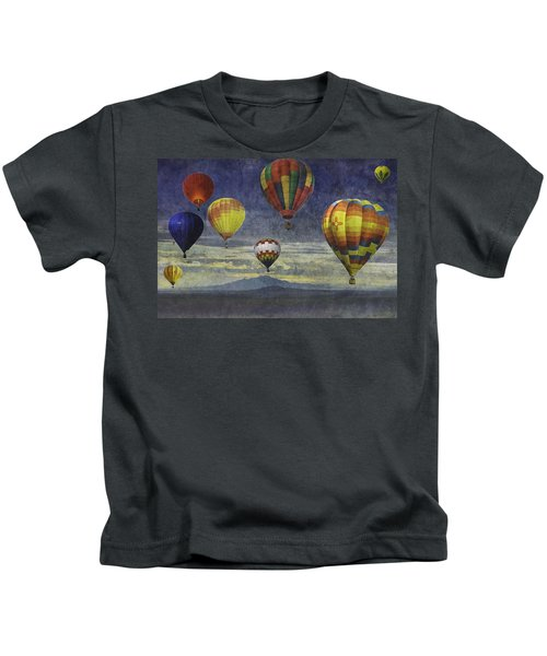 Balloons Over Sister Mountains Kids T-Shirt