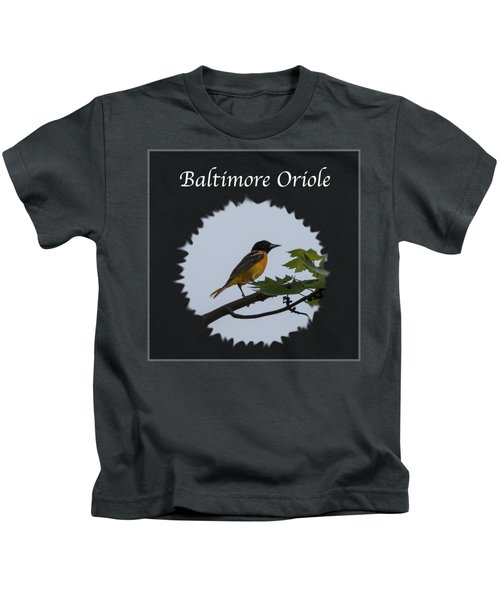 Baltimore Oriole  Kids T-Shirt by Jan M Holden